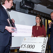 NLD/Amsterdam/201400414 - Uitreiking Erik Hazelhoff Jong Talentprijs en Biografieprijs door prinses Anita Sekreve, winnaar Wiebe de Graaf voor zijn universitaire masterscriptie Taco Kuiper (1894-1945), Ik ben zelf aansprakelijk voor mijn dood