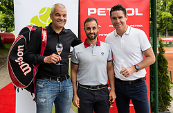 Sasa Arsenovic, Aljaz Kos and Gregor Krusic at Petrol VIP tournament 2018, on May 24, 2018 in Sports park Tivoli, Ljubljana, Slovenia. Photo by Vid Ponikvar / Sportida