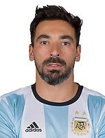 Conmebol - World Cup Fifa Russia 2018 Qualifier / <br /> Argentina National Team - Preview Set - <br /> Ezequiel Lavezzi