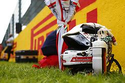 August 27, 2017 - Spa-Francorchamps, Belgium - Motorsports: FIA Formula One World Championship 2017, Grand Prix of Belgium, ..helmet of #5 Sebastian Vettel (GER, Scuderia Ferrari) (Credit Image: © Hoch Zwei via ZUMA Wire)