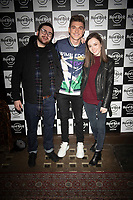 Richard Wisker, Theo Stevenson, Grace Hog Robins  at the Hard Rock Cafe celebrity-studded Christmas party for children's charity Fight For Life LONDON, 2 December 2019