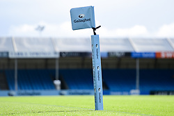 A Gallagher branded Corner Flag prior to kick off - Mandatory by-line: Ryan Hiscott/JMP - 10/10/2020 - RUGBY - Sandy Park - Exeter, England - Exeter Chiefs v Bath Rugby - Gallagher Premiership Rugby Semi-Final