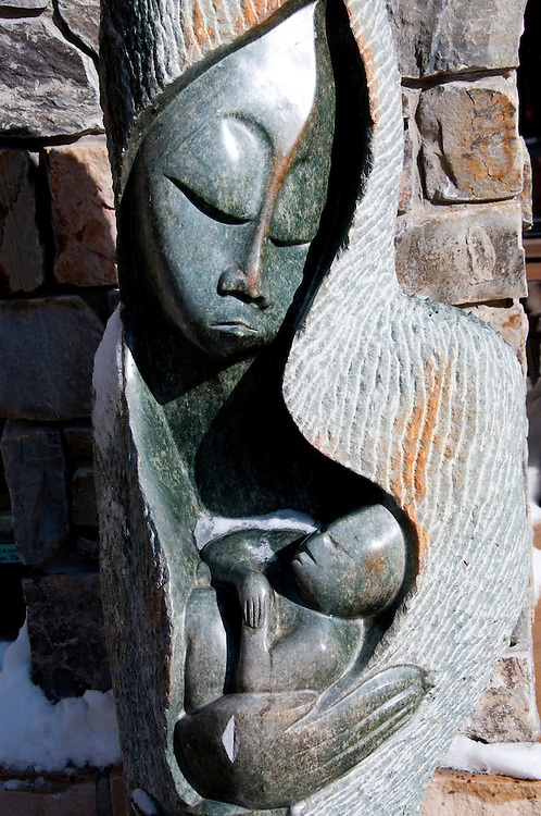 California: Outdoor art at Northstar at Lake Tahoe.    Photo copyright Lee Foster.  Photo # cataho100553