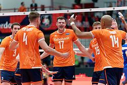 17-09-2019 NED: EC Volleyball 2019 Netherlands - Estonia, Amsterdam<br /> First round group D - Netherlands win 3-1 / Michael Parkinson #17 of Netherlands