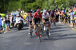 July 16, 2017 - Puy En Velay, France - Le Puy-en-Velay, France - July 16 : BENOOT Tiesj of Lotto Soudal, BARGUIL Warren of Team Sunweb during stage 15 of the 104th edition of the 2017 Tour de France cycling race, a stage of 189.5 kms between Laissac-Severac l'Eglise and Le Puy-en-Velay on July 16, 2017 in Le Puy-en-Velay, France, 16/07/2017 (Credit Image: © Panoramic via ZUMA Press)