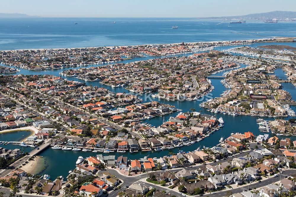 Aerial Photo of Sunset Beach in Huntington Beach California
