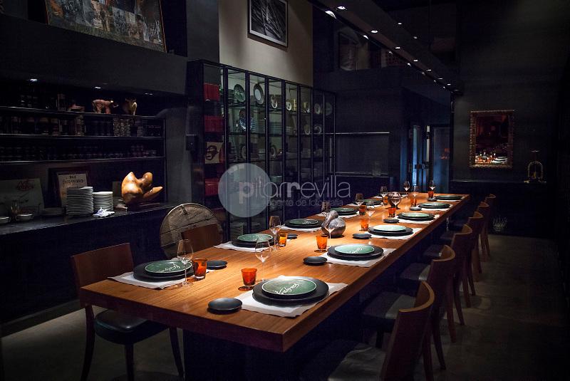 Can Fabes Restaurant. Principal room of the restaurant. ©Hugo Fernandez Alcaraz / PILAR REVILLA