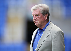 "Crystal Palace Manager Roy Hodgson  prepares for kick off during the pre-season friendly match at the Madejski Stadium, Reading. PRESS ASSOCIATION Photo. Picture date: Saturday July 28, 2018. See PA story SOCCER Reading. Photo credit should read: Mark Kerton/PA Wire. RESTRICTIONS: EDITORIAL USE ONLY No use with unauthorised audio, video, data, fixture lists, club/league logos or ""live"" services. Online in-match use limited to 75 images, no video emulation. No use in betting, games or single club/league/player publications."