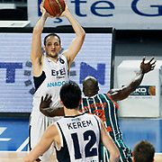 Efes Pilsen's Igor RAKOCEVIC (L) during their Turkish Basketball league match Efes Pilsen between Banvit at the Sinan Erdem Arena in Istanbul Turkey on Saturday 02 April 2011. Photo by TURKPIX