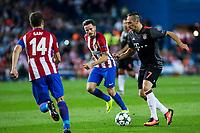 Atletico de Madrid's Gabi Fernandez and Bayern Munich's Franck Ribery during the match of Group stage of Champions League Atletico de Madrid and Bayern Munich at Vicente Calderon Stadium in Madrid. September 28, 2016. (ALTERPHOTOS/Rodrigo Jimenez)