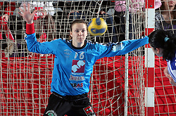 Goalkeeper of Krim Amra Pandzic at handball match at Main round of Champions League between RK Krim Mercator, Ljubljana and CS Oltchim Rm. Valcea, Romania, in Arena Kodeljevo, Ljubljana, Slovenia, on 28th of February 2009. Krim won 35:34.