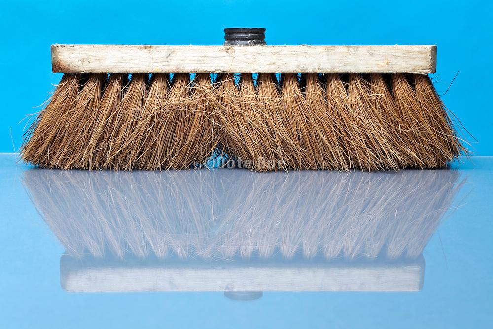wooden used broom head