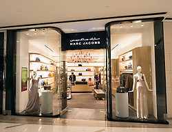 Marc Jacobs shop at Galleria commercial and retail property development recently completed at Sowwah Square on Al Maryah Island the new CBD in Abu Dhabi UAE