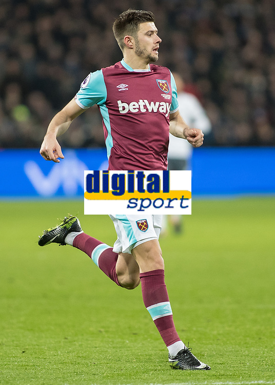 Football - 2016 / 2017 Premier League - West Ham United vs. Manchester United<br /> <br /> Aaron Cresswell of West Ham  at The London Stadium.<br /> <br /> COLORSPORT/DANIEL BEARHAM