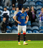 Football - 2021 / 2022  UEFA Europa League - Group A, Round One - Glasgow Rangers vs Lyon - Ibrox stadium - Thursday 16th September 2021<br /> <br /> John Lundstram of Rangers looks dejected at full time<br /> <br /> Credit: COLORSPORT/Bruce White