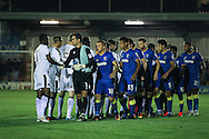 AFC Wimbledon during the EFL Trophy match between AFC Wimbledon and Plymouth Argyle at the Cherry Red Records Stadium, Kingston, England on 4 October 2016. Photo by Stuart Butcher.