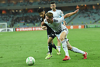 Abdellah Zoubir (10) of Qarabag FK fights for the ball with (?) of FC Basel  during the UEFA Europa Conference League group H match between Qarabag FK and FC Basel at  on September 16, 2021 in Baku, Azerbaijan.