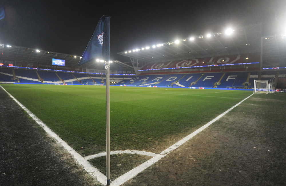 A general view of Cardiff City Stadium, home of Cardiff City FC<br /> <br /> Photographer Kevin Barnes/CameraSport<br /> <br /> The EFL Sky Bet Championship - Cardiff City v Bolton Wanderers - Tuesday 13th February 2018 - Cardiff City Stadium - Cardiff<br /> <br /> World Copyright © 2018 CameraSport. All rights reserved. 43 Linden Ave. Countesthorpe. Leicester. England. LE8 5PG - Tel: +44 (0) 116 277 4147 - admin@camerasport.com - www.camerasport.com