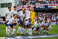 The England team pose for a team photograph during the UEFA Nations League semi-final match between Netherlands and England at Estadio D. Afonso Henriques, Guimaraes, Portugal on 6 June 2019.