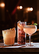 Three cocktails from Scotch and Soda located in Springfield, MO. Photo by Brandon Alms Photography