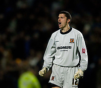 Photo: Jed Wee.<br /> Hull City v Cardiff City. Coca Cola Championship.<br /> 03/12/2005.<br /> Hull goalkeeper Matt Duke celebrates at the final whistle.