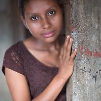 An indigenous Maya Chortí girl at Sinaí Chimichal, near Copán Ruinas