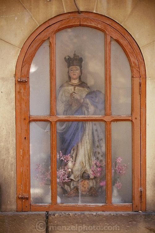 Shrine on a street corner in Laguardia (Alava) Rioja, Spain.