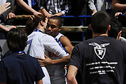 12 Febbraio 2012<br /> Basket Legadue<br /> Conad Bologna – Marcopoloshop.it Forli<br /> Nella foto: kelley tifosi esultanza<br /> Foto Ciamillo-Castoria<br /> DESCRIZIONE : Bologna Lega Basket A2 2011-12 Conad Bologna Marcopoloshop.it Forli<br /> GIOCATORE : Alfrie Tre Kelley Tifosi<br /> CATEGORIA : esultanza<br /> SQUADRA : Conad Bologna<br /> EVENTO : Campionato Lega A2 2011-2012<br /> GARA : Conad Bologna Marcopoloshop.it Forli<br /> DATA : 12/02/2012<br /> SPORT : Pallacanestro<br /> AUTORE : Agenzia Ciamillo-Castoria/M.Marchi<br /> Galleria : Lega Basket A2 2011-2012 <br /> Fotonotizia : Bologna Lega Basket A2 2011-12 Conad Bologna Marcopoloshop.it Forli<br /> Predefinita :