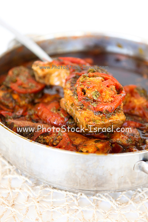 Haraime (also Charaime) a North African jewish speciality of fish cooked in spicy tomato sauce