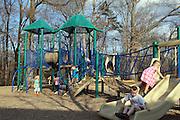 Children play on the playground Greenleaf park in Charlottesville, VA. Photo/Andrew Shurtleff