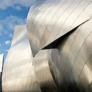 Annandale-on-Hudson, NY, USA - The Richard B. Fisher Center for the Performing Arts is located at Bard College in New York's Hudson Valley. Designed by Frank Gehry and completed in 2003, the center houses two theaters and several rehearsal studios. With its undulating stainless steel exterior, it is an example of Deconstructivist style.