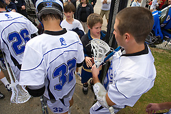 23 February 2008: Duke Blue Devils men's lacrosse midfielder Sam Payton (32) and midfielder Michael Young (27) in a 19-7 win over the Vermont Catamonts at Koskinen Stadium in Durham, NC