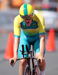 Australia's Callum Scotson in action during the Men's Individual Time Trial at Currumbin Beachfront on day six of the 2018 Commonwealth Games in the Gold Coast, Australia.