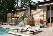 Apartment complex pool deck
