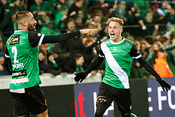 January 19, 2018 - Brugge, BELGIUM - Cercle's Jeremy Taravel and Cercle's Irvin Cardona celebrate after scoring during a soccer game between Cercle Brugge KSV and Lierse SK, Friday 19 January 2018, on day 23 of the division 1B Proximus League competition of the Belgian championship. BELGA PHOTO KURT DESPLENTER (Credit Image: © Kurt Desplenter/Belga via ZUMA Press)