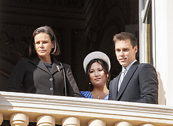 November 19, 2019, Monaco, Monaco: 19-11-2019 Monte Carlo Princess Stephanie of Monaco (L), Louis Ducruet (R) and partner Marie Hoa Chevallier during the Monaco national day celebrations in Monaco. (Credit Image: © face to face via ZUMA Press)