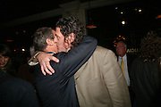 A.A. Gill and Marco Pierre White, A A Gill party to celebrate the  publication of Table Talk, a collection of his reviews. Hosted by Marco Pierre White at <br />