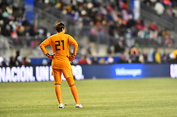 February 27, 2019 - Chester, PA, U.S. - CHESTER, PA - FEBRUARY 27: Japan Keeper Erina Yamane (21) looks on in the second half during the She Believes Cup game between Japan and the United States on February 27, 2019 at Talen Energy Stadium in Chester, PA. (Photo by Kyle Ross/Icon Sportswire) (Credit Image: © Kyle Ross/Icon SMI via ZUMA Press)