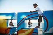 Image of children playing in Loreto, Baja Peninsula, Baja California Sur by Randy Wells