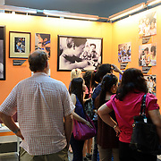 A group of visitors to the War Remnants Museum in Ho Chi Minh City (Saigon), Vietnam, look at photos of the effects of Agent Orange during the Vietnam War.