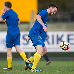 BRISBANE, AUSTRALIA - AUGUST 26: Luke Marsh of the Strikers warms up before the NPL Queensland Senior Men's Semi Final match between Brisbane Strikers and Moreton Bay Jets at Perry Park on August 26, 2017 in Brisbane, Australia. (Photo by Patrick Kearney)