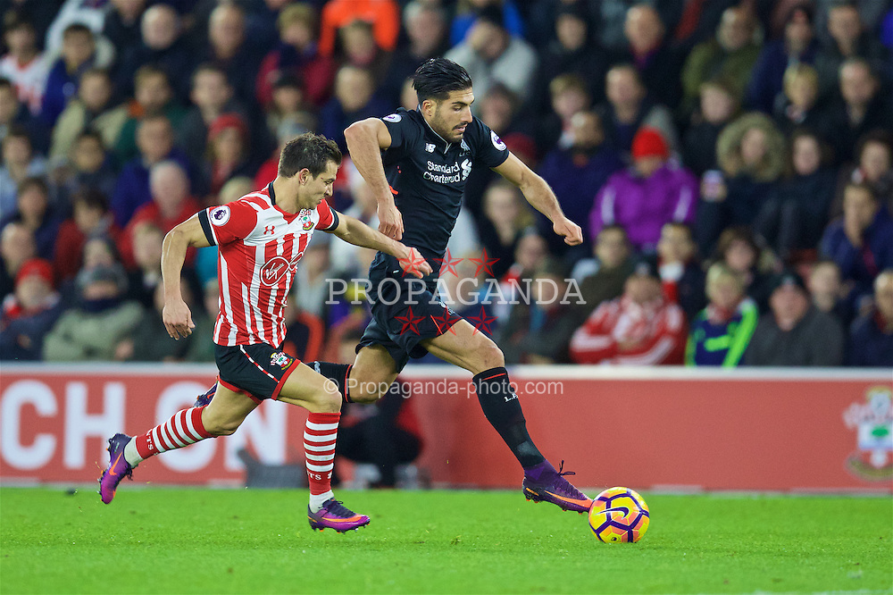SOUTHAMPTON, ENGLAND - Saturday, November 19, 2016: Liverpool's Emre Can in action against Southampton during the FA Premier League match at St. Mary's Stadium. (Pic by David Rawcliffe/Propaganda)