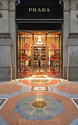 29.11.2013, Mailand, ITA, Architektur in Mailand, Mailand ist bekannt für historisch bedeutsame Bauwerke, im Bild LadengeschaeŠft Prada, der Luxus-Einkaufspassage Galleria Vittorio Emanuele II, aufgenommen am 15 11 2013 // retail shop Prada, the luxury shopping arcade Galleria Vittorio Emanuele II, Mailand, Italy pictured on 2013/11/15. EXPA Pictures © 2013, PhotoCredit: EXPA/ Eibner/ Eckhard Eibner<br /> <br /> *****ATTENTION - OUT of GER*****