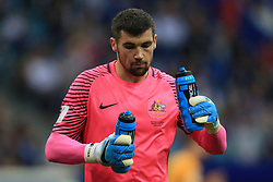 19th June 2017 - FIFA Confederations Cup (Group B) - Australia v Germany - Australia goalkeeper Maty Ryan drinks from two different bottles - Photo: Simon Stacpoole / Offside.