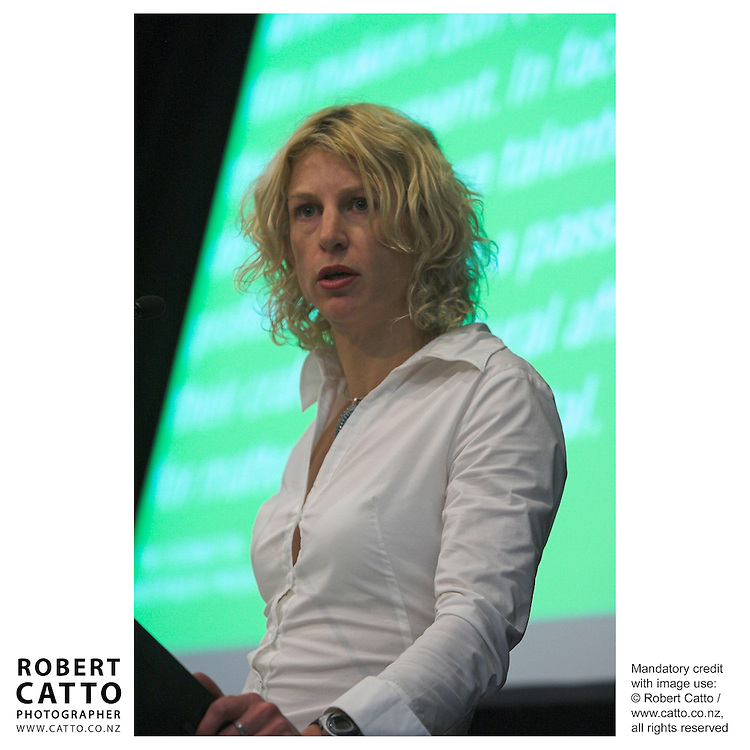 Rachel Depree at the Spada Conference 2005: Small Country, Big Picture at the Intercontinental Hotel, Wellington, New Zealand.