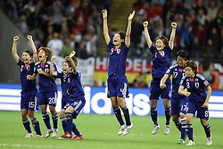 17-07-2011 VOETBAL: FIFA WOMENS WORLDCUP 2011 FINAL JAPAN - USA: FRANKFURT<br /> Jubel Japan nach dem WM titel Gewinn<br /> ***NETHERLANDS ONLY***<br /> ©2011-FRH- NPH/Mueller