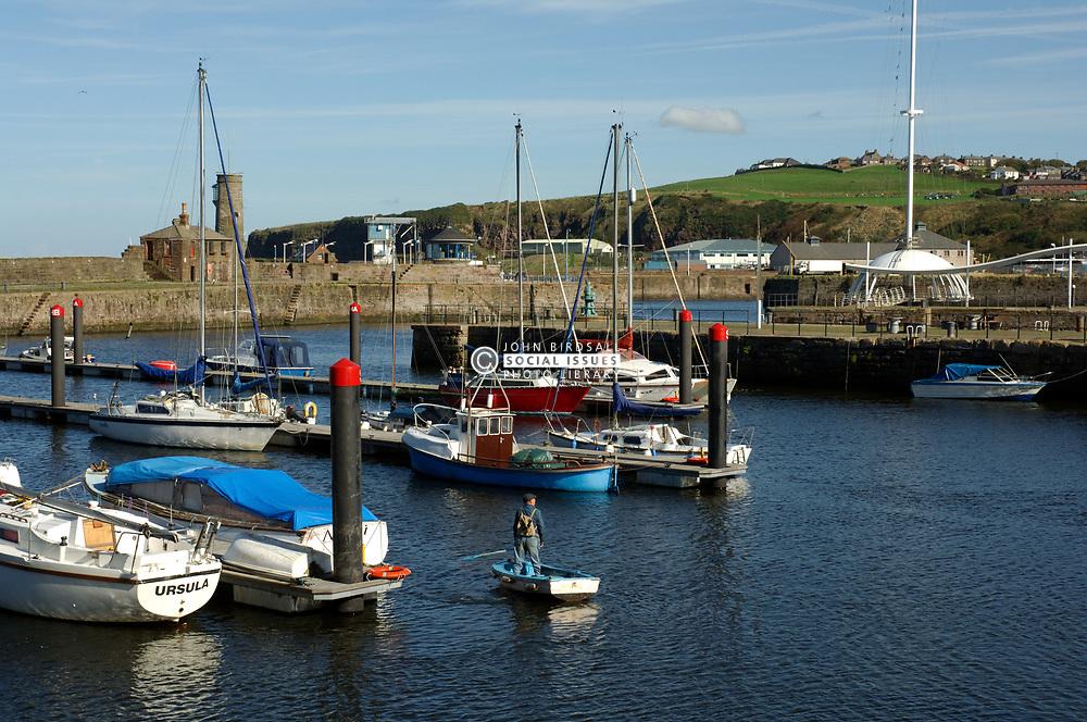 Whitehaven marina and harbour Cumbria UK