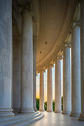The Thomas Jefferson Memorial is a presidential memorial in Washington, D.C. that is dedicated to Thomas Jefferson, an American Founding Father and the third President of the United States. The neoclassical building was designed by John Russell Pope. It was built by Philadelphia contractor Tyler Nichols. Construction began in 1939, the building was completed in 1943, and the bronze statue of Jefferson was added in 1947.  <br /> The Jefferson Memorial is managed by the National Park Service under its National Mall and Memorial Parks division