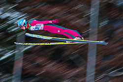 06.01.2015, Paul Ausserleitner Schanze, Bischofshofen, AUT, FIS Ski Sprung Weltcup, 63. Vierschanzentournee, Probedurchgang, im Bild Bartlomiej Klusek (POL) // Bartlomiej Klusek of Poland soars trought the air during his Trial Jump for the 63rd Four Hills Tournament of FIS Ski Jumping World Cup at the Paul Ausserleitner Schanze, Bischofshofen, Austria on 2015/01/06. EXPA Pictures © 2015, PhotoCredit: EXPA/ Johann Groder