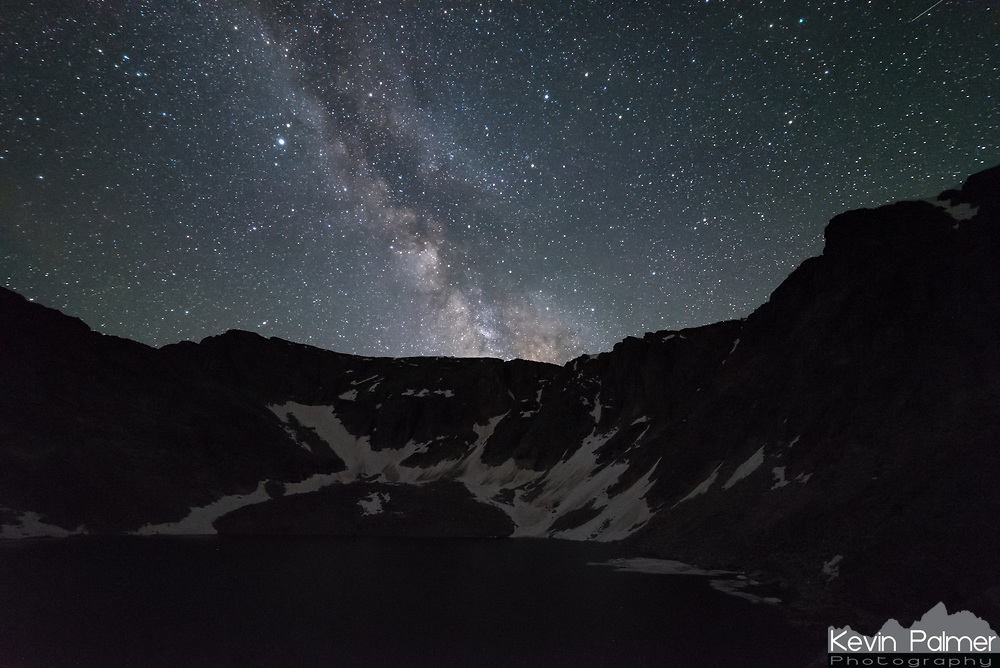 While backpacking at Upper Crater Lake in the Cloud Peak Wilderness, I set my alarm so I could wake up and capture the milky way. But since the cliffs in the cirque were so high, I couldn't see much of the milky way.